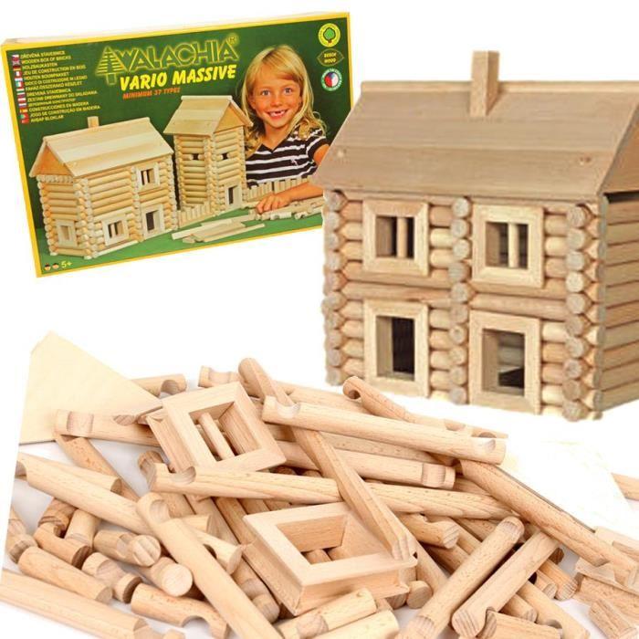 jeu-de-construction-chalet-en-bois-vario-209-pcs